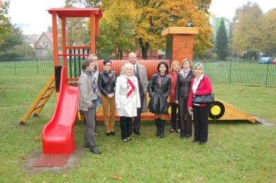 Děti v MŠ Mjr. Nováka v Hrabůvce mají novou zahradu