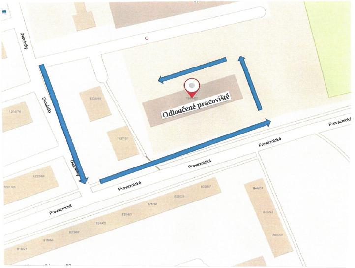 Dočasná změna přístupu do budovy pracoviště odboru sociální péče na ulici Provaznická