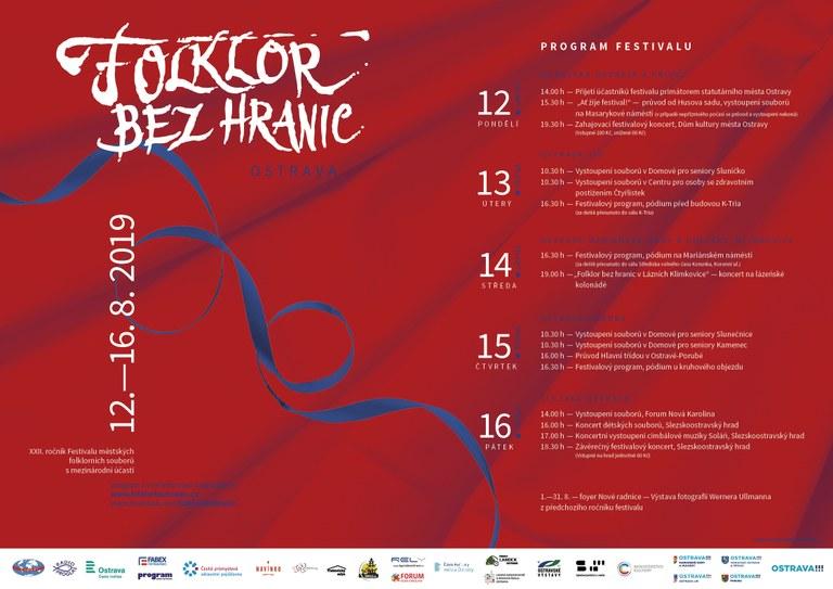 Folklor bez hranic ve dnech 12. až 16. srpna roztančí Ostravu