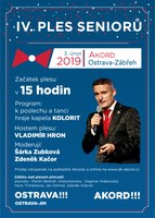 Hlavním hostem Plesu seniorů v Akordu bude Vladimír Hron