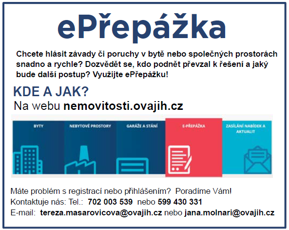 Informace pro nájemníky obecních bytů k dočasnému omezení služeb technického oddělení