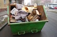 Rozměrný odpad patří do velkoobjemových kontejnerů