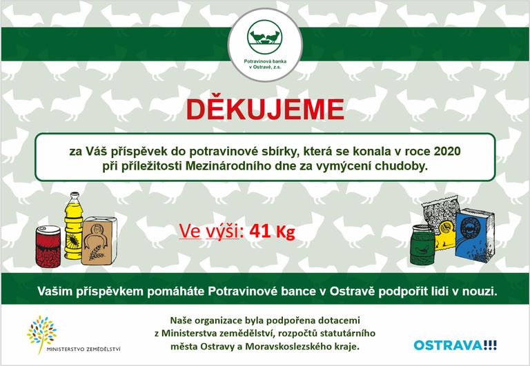 Na lidi v potravinové nouzi nezapomínáme — Čeština