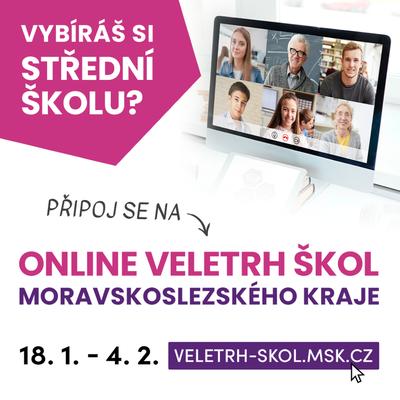 On-line veletrh středních škol Moravskoslezského kraje 2020/21 se blíží