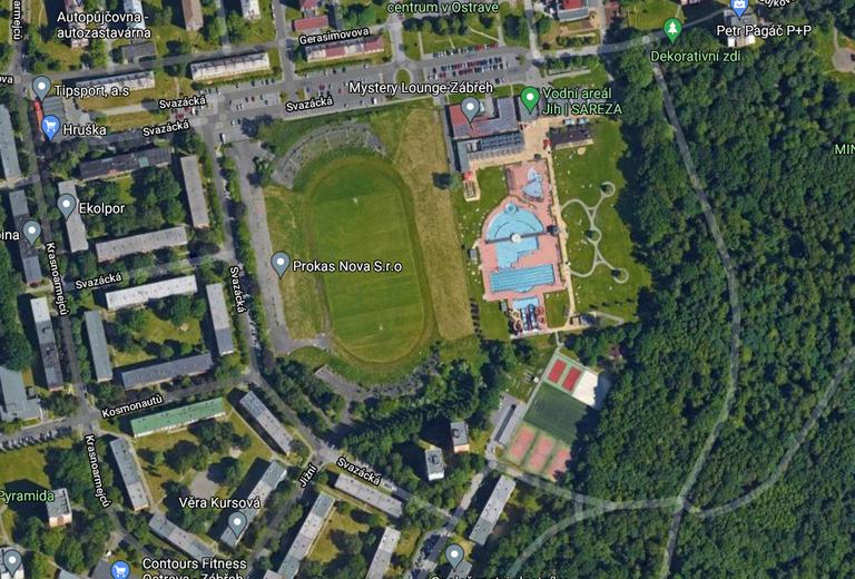 Ostrava-Jih nabízí k prodeji atraktivní pozemek. Lidé by na něm chtěli krytý aquapark