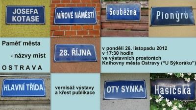 Paměť města - názvy míst OSTRAVA