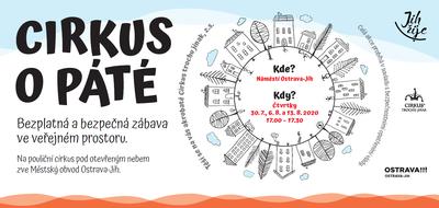 Pouliční cirkus na náměstí Ostrava-Jih