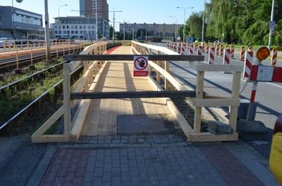 Provizorní tramvajová zastávka u Komerční banky začne fungovat po víkendu