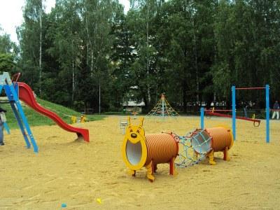 Renovované dětské hřiště ve Výškovicích