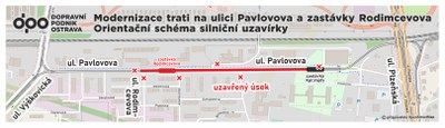 Stavba moderní tramvajové trati na ulici Pavlovova  zahájena