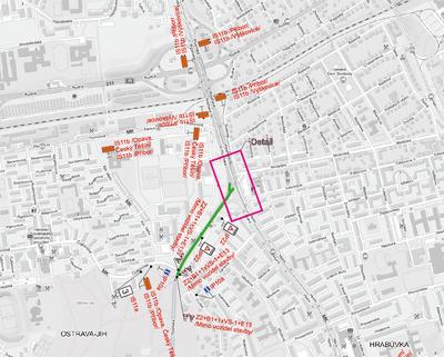 Upozornění na opravu ulice Plzeňská vyžadující objížďky a posun autobusových zastávek