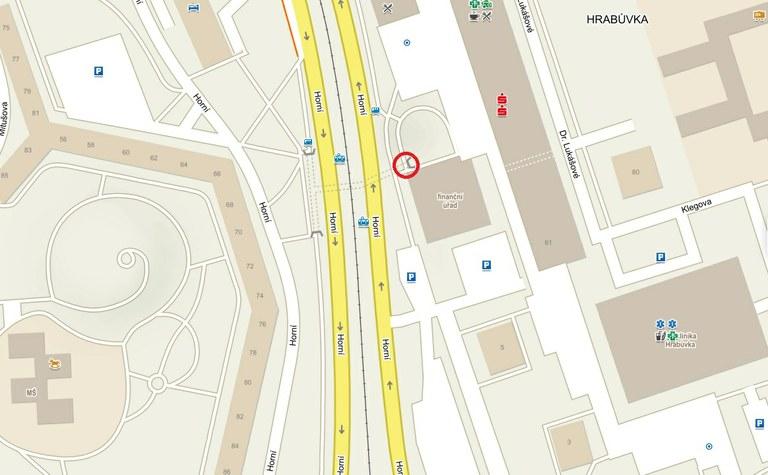 Uzavření vstupu do podchodu z náměstí Ostrava-Jih
