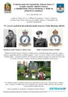 V pátek 29. března si připomeneme hrdinné letce RAF