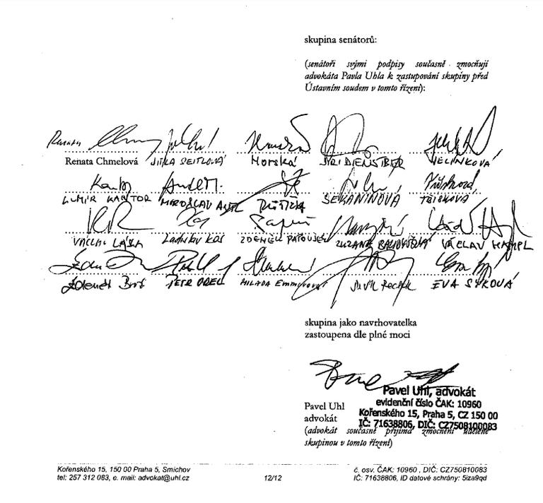 Zrušení bezdoplatkových zón – výsledek stížnosti skupiny senátorů