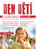 Den dětí v kině Luna a v Lesní škole s moderátorem Vlastou Korcem