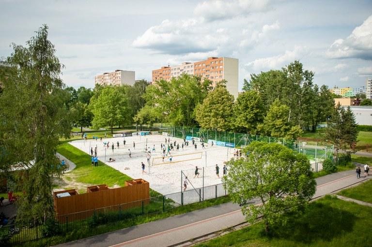 Díky participativnímu rozpočtu má Ostrava-Jih tři nová beachvolejbalová hřiště