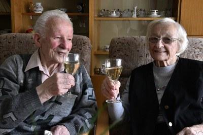 Manželé Galasovi z Ostravy-Jihu oslavili 76. výročí svatby