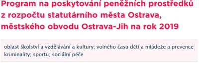 O účelové dotace a granty v Ostravě-Jihu je třeba požádat v první polovině října