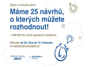 Obyvatelé Ostravy-Jihu mohou do neděle hlasovat o tom, co nového v obvodu chtějí - a co rozhodně ne