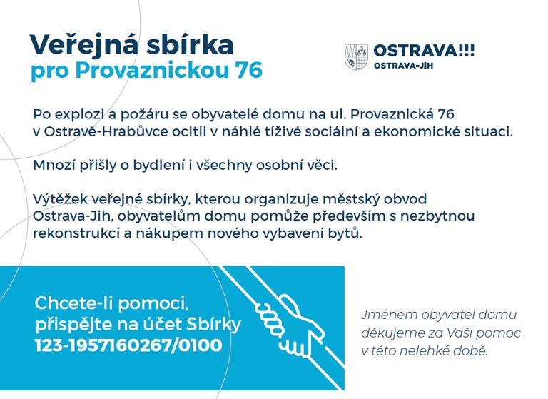 Veřejná sbírka a byty pro obyvatele vyhořelého domu v Ostravě-Hrabůvce