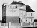 Budova velína na křižovatce Výškovické a Pavlovovy ulice v roce 1935